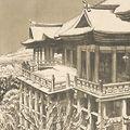 織田一磨「京都風景 清水寺雪景」