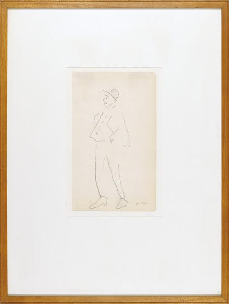 アルベール・マルケ「自筆画 ポケットに手をつっこんでいる男」/