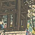 琴塚英一「新日本百景 奈良東大寺大鐘堂」