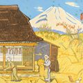 小泉癸巳男「聖峰富岳三十六景の内 不二山と農家」