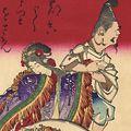 芳年「七福神酒宴之図」