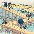 北斎「諸国名橋奇覧 三河の八ツ橋の古図 【復刻版】」