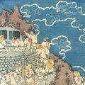国輝二代「冨士山諸人参詣之図」