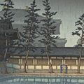 川瀬巴水「奈良大佛殿」