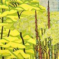 橋本興家「若葉と筍」