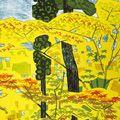 橋本興家「松と杉と楓」