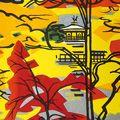 橋本興家「鏡湖池紅葉」