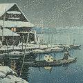川瀬巴水「雪の向嶋」