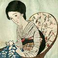 竹久夢二「籐椅子」