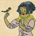 前川千帆「小鳥と少女」