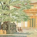 浅野竹二「奈良名勝の内 春日神社」
