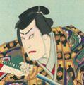 国周「歌舞伎座四月狂言 侠客春雨傘」