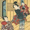 豊国三代「源氏物語 十八 松風」