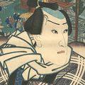 国芳「江戸名所見立十二ヶ月之内 二月 王子 小さんの金五郎」
