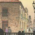 吉田遠志「ハバナの古い町」