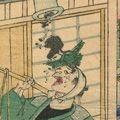 一景「東京名所三十六戯撰 鉄砲洲」