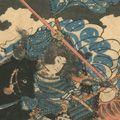 国芳「倶利伽羅峠の戦い(仮題)」