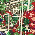 川西英「自筆原画・版画 花壇」