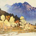吉田博「雨後の穂高山」