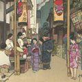 吉田博「河野祭」