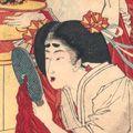 芳年「美立七曜星 化粧の金」