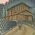 川瀬巴水「子の山の夕暮(埼玉県)」