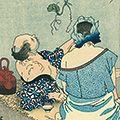 芳年「月百姿 夕顔棚の夕涼【復刻版】」