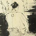 岩田専太郎「自筆画稿 大佛次郎原作『半身』より」