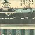 国輝二代「東京築地ホテル館繁榮之図」