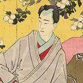 芳年「新撰東錦絵 於さめ遊女を学ぶ図」