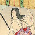 周延「日本名女咄 北条夫人」