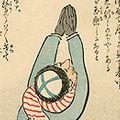 清親「日本万歳 百撰百笑 露兵の弱無士 骨皮道人」