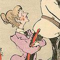 清親「日本万歳 百撰百笑 露将の首途 骨皮道人」