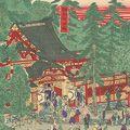 芳盛「上野東照宮御祭典参詣群集図」