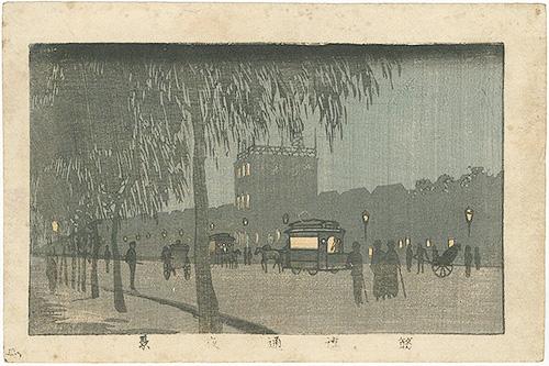 安治(探景)「東京真画名所図解 筋違通夜景」/