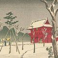 安治(探景)「東京真画名所図解 根津神社」