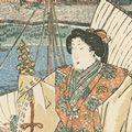 国貞初代「東海道五十三次之内 宮之図」