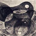 駒井哲郎「鳥と果実」