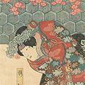 国芳「鎌倉山桜御所染」