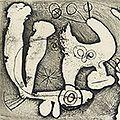 ジョアン・ミロ「詩画集『SACCADES』より #6」