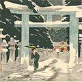 清親「上野東照宮積雪之図【復刻版】」