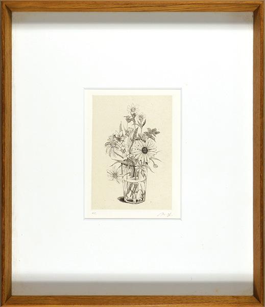 吉田勝彦「コップに挿した花」/
