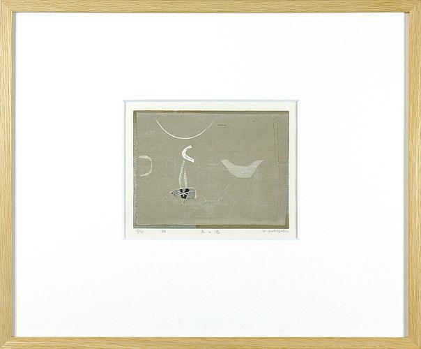 柿崎兆「冬の池」/