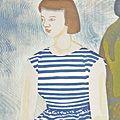橋本興家「縞衣の少女」