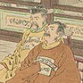 月耕「日本誉談判 大鳥公使韓地に向ふ」