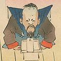 清親「日本万歳 百撰百笑 清狂言の降状 骨皮道人」