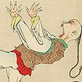 清親「日本万歳 百撰百笑 ちゃんちゃんの胆潰し 骨皮道人」