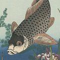 北斎「杜若に鯉【復刻版】」