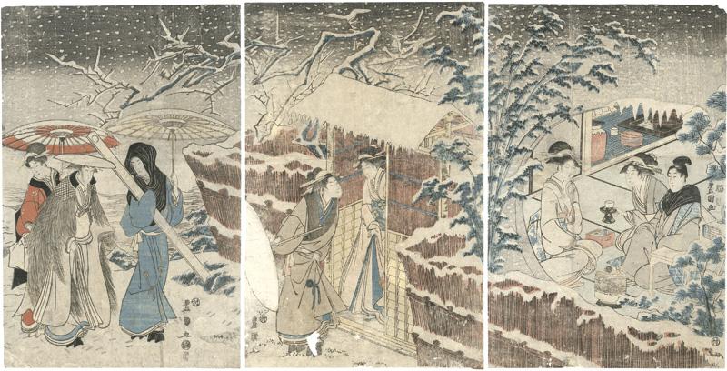 豊国初代「雪中図」/