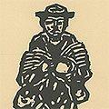平塚運一「木彫人形 修道士南加」